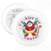 1PC/LOT.Paint unfinished Christmas plate,Christmas crafts,Xmas cake tray,Christmas toys,Xmas gift,25.5x2.5cm