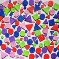 900PCS/LOT.EVA irregular geometric figure foam stickers,Foam puzzle.Wall sticker Diy crafts Early educatioal toys Free shipping