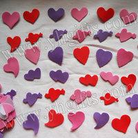 600PCS/LOT.Foam heart adhesive stickers,Wall sticker,Wedding decoration,Home ornament,Kids crafts,Fridge stickers.Mixed size.