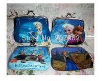 Wholesale 240pcs/lot Frozen Princess Coin Purse Cartoon Kids Money Clips Fashion wallet A3374 Free Shipping