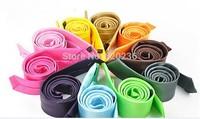 new 35 Colors Mens Polyester Leisure Skinny Tie Necktie Designer Narrow Neck Tie 200pcs/lot factory price
