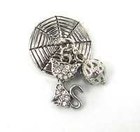 Free shipping new arrival kitling with boll charm Fashion metal snap button charm