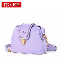 -2014 fashion cutout metal lockbutton one shoulder fashion women's handbag cross-body bag Designer women messenger bag Hot sell