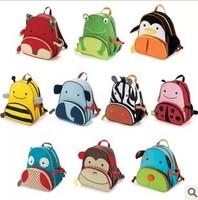 Hot Sale Cute Cartoon Baby Bag Children's Fashion Backpacks Cute Kids Lunch Backpack Eagle Monkey Zoo Animal Canvas School bag