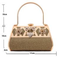 2014 New Arrival Women Handbag Fashion Evening Handbag Women's Designer Handbags Bag Party Gold Wedding Bag