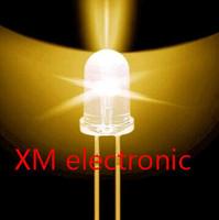 Free shipping 1000pcs 5mm led Green light bulbs / 5MM Yellow Colour LED emitting diode F5mm Yellow LED