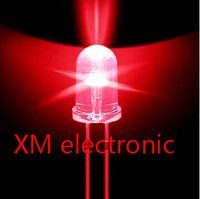 Free shipping 1000pcs 5mm led Red light bulbs / 5MM Red Colour LED emitting diode F5mm Red LED