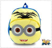 New arrival children plush cartoon bags kids backpack children school bags for kindergarten  Small yellow people bags