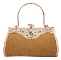 Promotion ! 2014 New Arrival Women Handbag Fashion Evening Handbag Women Gold Clutch Bag Party Bag