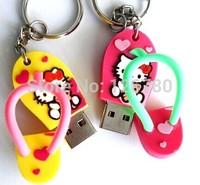 Free shipping Shoe Shape USB Flash Driver Cute USB Memory Sticker 8 gb 16gb 32gb 64GB Pen Drive