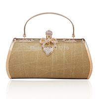 Promotion ! 2014 New Arrival Women Evening Bag Wedding Party Women Clutch Gold Purse Women's Designer Handbags
