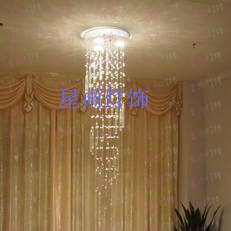 Lustres de cristal fresco escada espiral hastes restaurante sala de jantar acende deslumbramento iluminação K9 qualidade constante(China (Mainland))