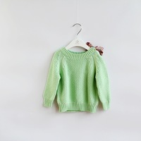 New 2014 Autumn baby &kids clothing girls Boutique floral bow Knitted  Sweater 3 colors 6pcs/lot