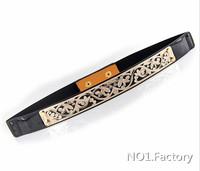 Free Shipping female Designer Belts Fashion 2014 Metal Keeper Metallic Bling Gold Mirror 2.5cm Wide Obi Belt for women