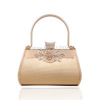 Promotion ! 2014 New Arrival Bag Fashion Womens Bags Handbags Women Gold Clutch Purse Wedding Party Bag