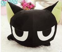 Freeshipping 30 ROM. Little black doll cat narrowing doll doll cartoon plush toys small black cat A birthday present