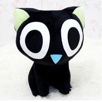 Freeshipping30cm ROM. Little black doll cat narrowing doll doll cartoon plush toys small black cat A birthday present