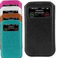 New Case  For DOOGEE DG2014/DG800/DG550/DG350/DG500C/DG450 View Window Pouch Mobile Phone PU Leather Bag Cover Bags Cases