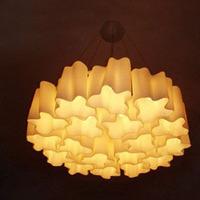 8 light white modern IKEA corridor bed room glass ceiling lamp light