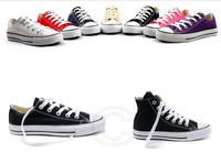 13Colors Canvas Shoes Low&High Style Classic Canvas Flat,Lace up Women&Men Sneakers,Lovers Shoes,Students Lace Up Shoes US3-10.5