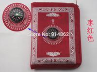 300pcs /lots hot sale  Ramadan gift polyester travel pocket prayer mat , muslim prayer rugs, praying prayer carpet