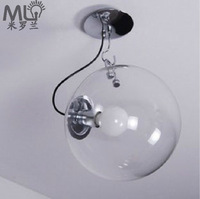 Dia 330mm Clear LED modern IKEA bedroom bar glass ceiling lamp light