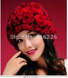 bonnet woman womens knit fur hat 2014 manufacturers wholesale new real rabbit fur hat elastic rabbit hair to keep warm(China (Mainland))