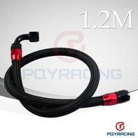 1.2METER NYLON FUEL HOSE  -10 AN AN10 NYLON FUEL HOSE + AN10 STRAIGHT AN SWIVEL FITTING + 90 DEGREE SWIVEL FITTING