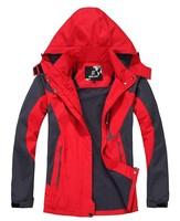 Outdoor jacket windproof male plus velvet thickening men's outdoor jacket thermal ski suit