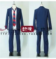 Anime Danshi Koukousei no Nichijou high school uniform okada masaki cosplay costume set