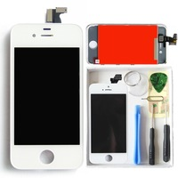 Top quality New Brand White Front LCD Display Screen Touch Digitizer Assembly For iPhone 4S with Frame Free tools& Shipping