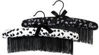 free shipping high quality slip-resistant cloth hanger fashion clothes hanger black white sale tassel 2 pics evening dress
