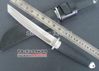 Tools! 2014 New! Trumpet Mitsumi Samurai (dermal sheath) hunting knife camping knife 58HRC fixed HK Free Shipping