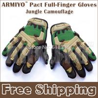 Armiyo Pact Military Camouflage Full Finger Racing   Hunting Cycling Riding Camping Climbing Tactical Gloves