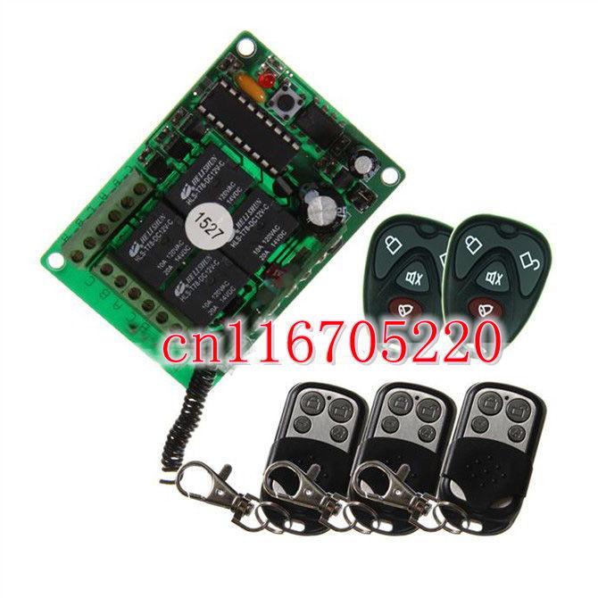 Buy Dc 12v 4 Channel Wireless Switch
