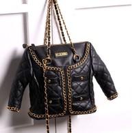 Wholesale+Retail new 2014 wind coat design bag fur topcoat shoulder bags moschinoss handbag fashion coat style totes bag