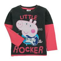 New Children's Spring 2014 Fashion European Style Long-Sleeved T-shirt Cartoon Pig Pepe Long Sleeve Boys T-shirt