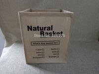 jute zakka desktop storage boxs natural basket box storage bags Brief laundry bucket bag cloth storage basket eco-friendly