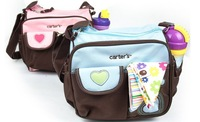 2014 new whosale free shipping heart embroidered nappy bag multifunction fashion shoulder diaper bag mother bag