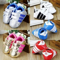 New Arrival 3 Pairs/Lot red Baby shoes casual cotton shoes children's pre walker shoes new born shoes BL-P2