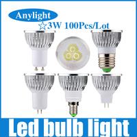 100pcs/lot 9W E27/E14/Gu5.3/Gu10/Mr16 85-265V Warm/Pure/Cold/White High Power LED Lamp/Spot lighting WSP09