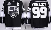 2014 Cheap Wholesale Hockey Jerseys Los Angeles Kings American #99 Wayne Gretzky Jersey Embroidery Logos free shipping