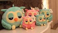 2014 Hot!!! 18cm Super Cute Owl Plush Toys Baby Dolls 2 Colors Super Soft Free Shipping High Quality best price child good gift