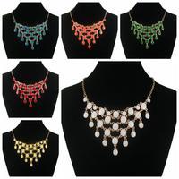 Fashion Candy Sweet Drop Oil Pendant Bib Statement Collar Necklace Women  Jewelry Cheap-fine Store Free Shipping