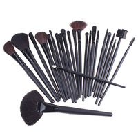 2014 Hot !!24 Pcs Professional Make Up Sets Cosmetic Makeup Brushes Tools Kit with Black Leather Case Bag Free shipping