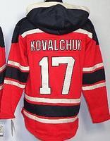 2014 NHL New men's #17 Ilya Kovalchuk Red-Black pullover sweatshirt hockey Jersey,wholesale free shiipping hockey Jerseys