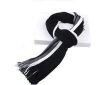 Newest style autumn winter chaddar thickening spell color tassel men stripe scarf