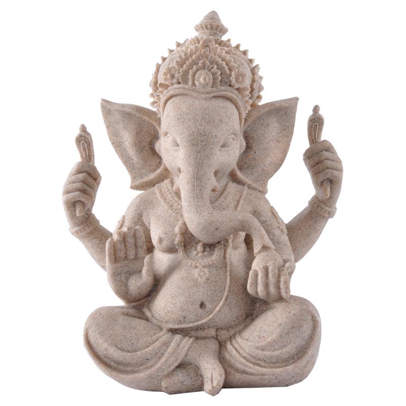 sandstone India style The Indian elephant god home office decor Genesha novelty households resin gifts 21 cm 14375(China (Mainland))