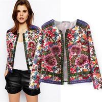 2014 European style women jackets coat flower embroidery jacquard ribbon decoration cardigan jacket slim casacos femininos