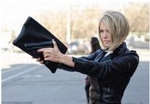 new arrival 2014 Vlieger & Vandam pistol bag,women or men messenger bags,PU leather bags,clutch purses cheap handbag L31(China (Mainland))